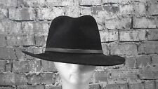 PENDLETON Hat Fedora Men's Black 100% Virgin Wool Outback Large A196-701