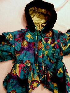 Luxus Jacke / Mantel mit Kapuze Gr.92 Prinzessin festlich neuwertig