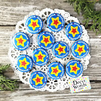 12 SUPERSTAR AWARD Small PIN BACK BUTTONS BADGES Party Favor Pins Encouragement