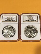 2001 Buffalo Dollars Set NGC MS-69 / Proof 69 Ultra Cameo