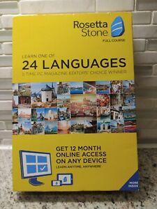 NEW Rosetta Stone: Learn a Language 12 Month Subcription Key Card