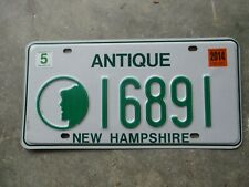 New Hampshire 2014 Antique license plate # 16891