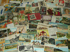 Huge Vintage Antique Lot of 95 Post Cards - Mass, NH, Travel, Holiday, Humor Etc