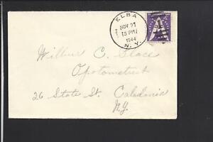 ELBA, NEW YORK 1944 COVER TO CALEDONIA,N.Y.  GENESSEE CO 1821/OP.