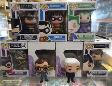 Lot of 7 Batman Funko Figures with 2 Customs Jim Gordon and Alfred 011018DBT