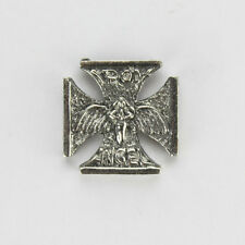 Biker Chopper Iron Cross Angel Eisernes Kreuz Engel Pin Anstecker Anstecknadel