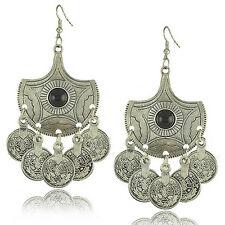 BOHO GYPSY COIN DANGLE DROP EARRINGS Bohemian Ethnic Tribal Jewellery Vintage
