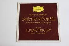 DGG TULIP RED ed1-Beethoven Filarmonica nr 7-Ferenc Fricsay LP LPM 18757 VINILE