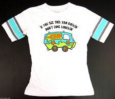 SCOOBY-DOO VAN Hockey Jersey T-shirt Baby Doll Tee JUNIORS XL 100% Cotton New
