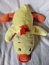 Koala Baby Yellow Laying Duck Soft Plush Animal Orange Bow Bill Feet