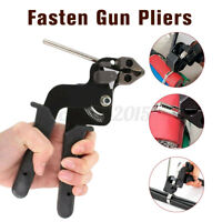 Stainless Steel Cable Tie Fasten Gun Pliers Crimper Tensioner Cutting Tools
