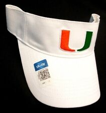 Miami Hurricanes NCAA Collegiate Hat Cap White Golf Sun Visor Adjustable OSFA