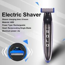 Men's SOLO Rechargeable Trimmer Razor Shaver Edges W/3 Combs Electric Shave NEW