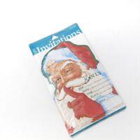 UNUSED Santa Clause St Nick Vintage Christmas Invitation Greeting Card Lot of 8