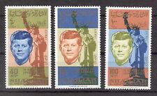 Sharjah 1964 1st Anniversary Death of John F. Kennedy Set MNH (SC# C25-C27)