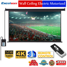 "100"" 16:9 3D Electric Motorized HD Projector Projection Screen Cinema Theater"