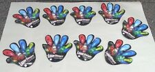 Finger Laser Beams LED Finger Ring Glow Party Supply Lot of 9