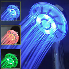 LED Shower Head Changing Light Water Temperature Rainfall Hand-held 3 Colors