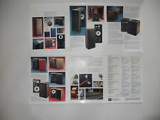 JBL Brochure '81 Home Speakers L300,L220,L150a,Paragon,4311b, L50 Articles+Specs