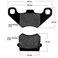 Pastiglie Freno Set (2 Pezzo) Posteriore Quad Atv 110/200 Ccm Nuovo (Lo m13a)