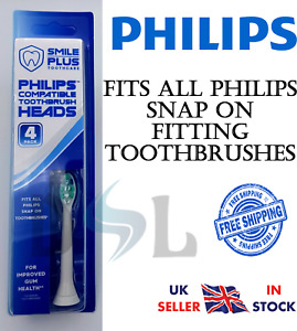 PHILIPS Compatible Sonicare Snap On Toothbrush Electric Heads Smile Toothcare