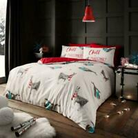 Christmas Bedding Set Duvet Quilt Cover With Pillowcase Single Double King Size