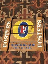 Foster's Lager Beer Wood Advertising Wall Sign