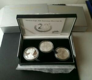2006 American Eagle 20th Anniversary Silver Coin Set