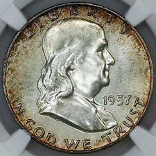 1957-D Franklin Half Dollar - NGC MS 65 FBL