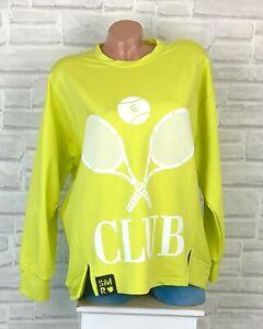 Oversize Pullover Pulli Shirt Sweatshirt Tunika Print 38 40 42 44 46 Gelb P818