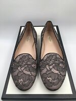 Valentino Garavani Womens Floral Lace Slip On Loafers Black Size 40/ 10