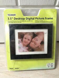 """New Boxed Technika 3.5"""" Desktop Digital Photo Picture Frame TPFX35 Slideshow"""