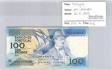 BILLET PORTUGAL - 100 ESCUDOS - 26.5.1988