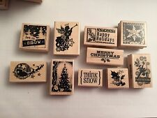 Lot Of 10 Inkadinkado Christmas Rubber Stamps