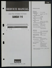 SANSUI tu-s5 ORIGINAL AM/FM Stereo Tuner service-manual/Diagram o151
