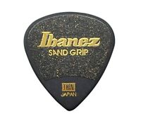 Guitar Pick IBANEZ SAND GRIP Black THIN PA16TSG-BK from JAPAN
