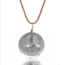 Lunapolaris Halskette - Glückskugel mit eingegossener  Pusteblume