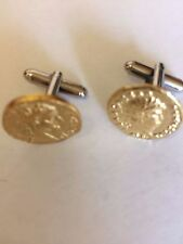 Aureus Of Nero Coin WC57B Gold Pair of Cufflinks Made From English Pewter