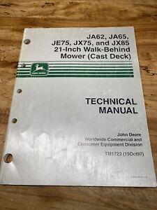 John Deere Mower (Case Deck)  JA62 JA65 JE75 JX75 JX85 Technical Manual TM1723