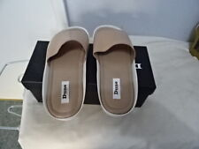 LADIES DUNE LEMMY FLAT FOOTBED MULE NUDE LEATHER SLIPPERS UK 6/EU 39 RRP-£65