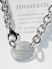 Tiffany & Co Return to Tiffany Sterling Silver Oval Tag Necklace