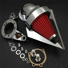 Triangle Spike Air Cleaner Intake For Harley Cv Carburetor Delphi V-Twin Chrome