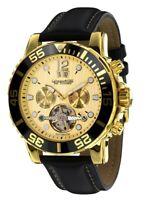 """Calvaneo 1583 Schwere vergoldete """"Sea Command Gold Creme"""" Diver Automatikuhr"""