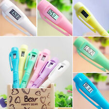 1Pcs New Ballpoint With Electronic Watch Exam Point Pen Student Study Stationery