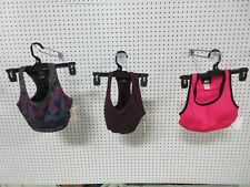 3 EVERLAST SPORTS BRA CROP TOP WOMENS WORKOUT PINK RED SMALL S GYM CLOTHES LOT