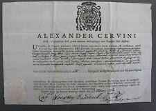 Certificato autentica Alessandro Cervini - reliquia osso Beato Franchi 1769