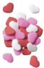 Edible Confetti Sprinkles Cookie Cake Valentines Day RED PINK WHITE HEARTS 8 oz.