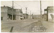RPPC NY Elmira Heights 14th East from Erie Railroad Bull Advtsng Chemung County