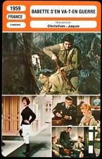 BABETTE S'EN VA-T-EN GUERRE - Bardot (Fiche Cinéma) 1959 - Babette Goes to War