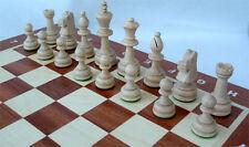 Schach Turnier - Schachspiel Staunton Nr. 5A, Schachbrett 49x49 cm Holz